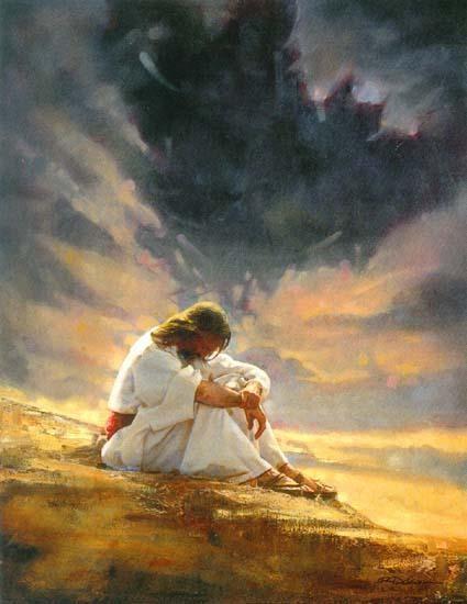 """Jesus Thinking"" Unnown Artist Image from revbricetajourney.blogdpot.com"